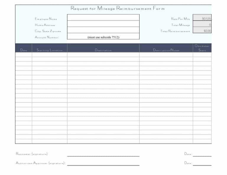 Free Reimbursement Form TemplatesWord Excel Pdf  Template Section