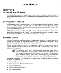 Free user manual templates word template section for Instructional manual template