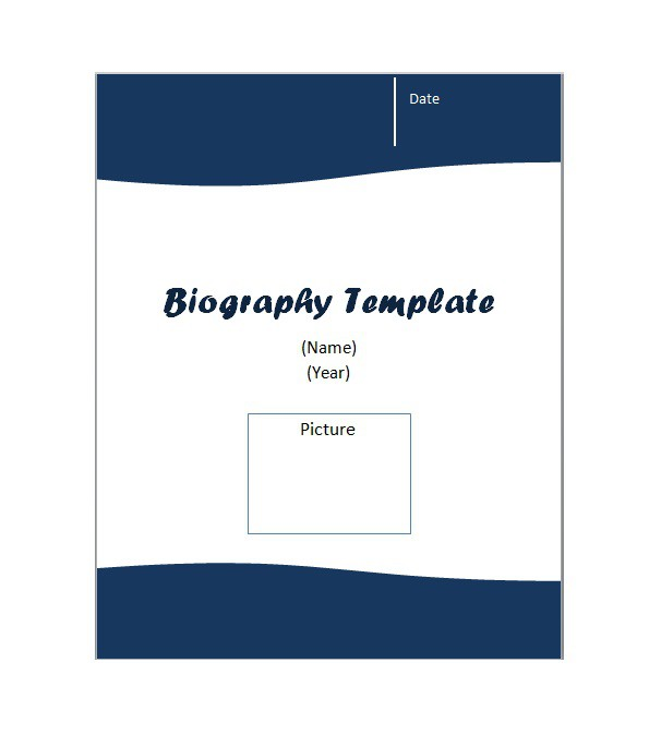 free biography templates-word  sample  tips