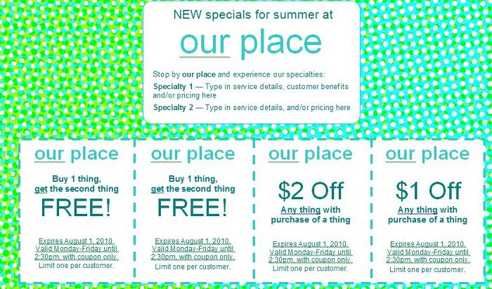 Free Coupon Templates- Word, Editable, Printable ...