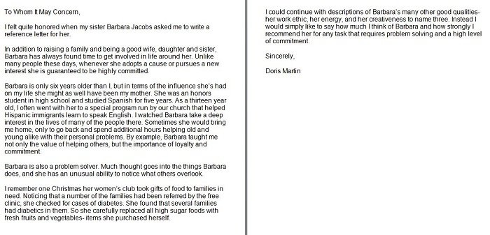 Letter Of Recommendation Template: Free Personal/Character Reference Letter Templates-Doc