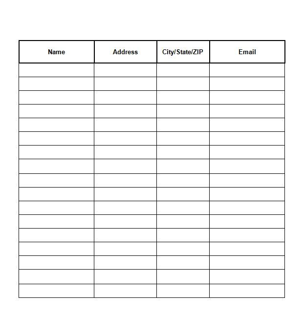 Free Sign-in/Sign-up Sheet templates- Excel, Word ...