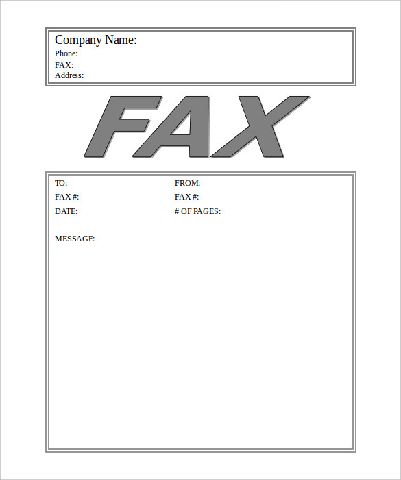 12+ Fax Cover Sheet Templates   Free Word PDF Samples   Template Section