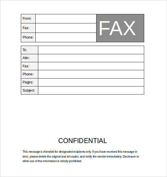 12+ Fax Cover Sheet Templates   Free Word PDF Samples   Template Section  Example Of Fax Cover Letter