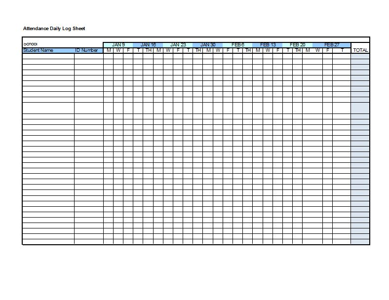 Attendance Sheet Template - 12+ Free Word Excel PDF ...