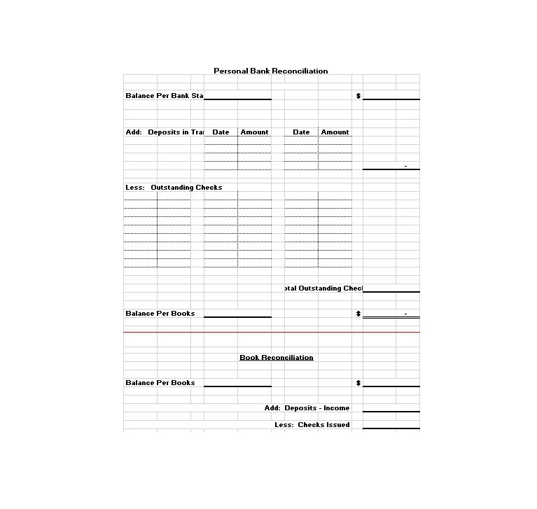 bank reconciliation template xls - free bank statement templates 10 balance excel word