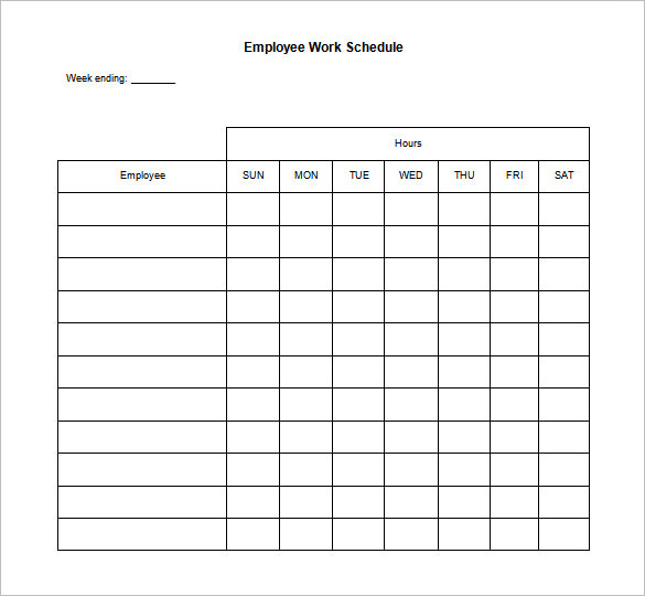 Daily Schedule Templates  Printable Excel Word Pdf  Template
