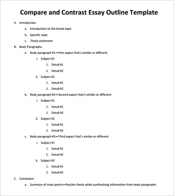 Writing comparison essay