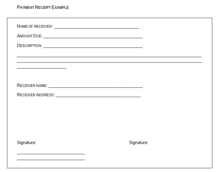 payment receipt template - 10  free word excel
