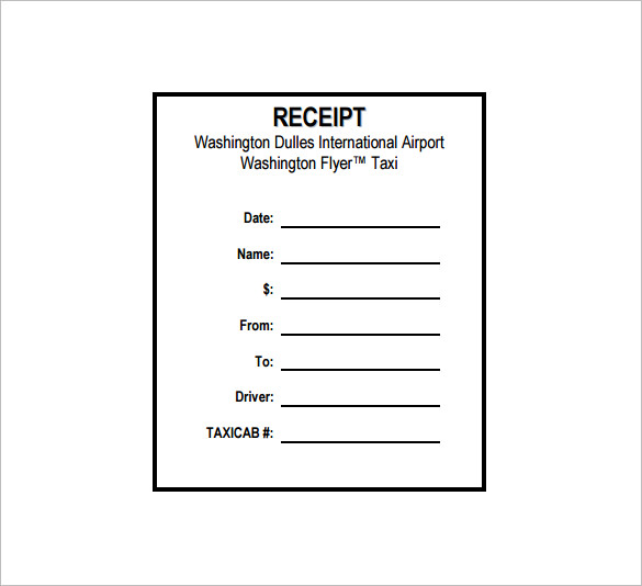 Taxi Receipt Templates Free Sample Word PDF Template Section - How to make a tax receipt