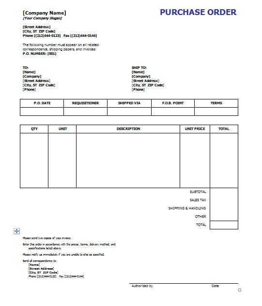 purchase order template - 8  free excel word