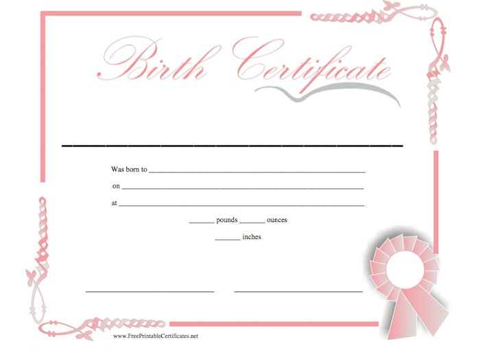 Free birth certificate template sample format example for Fake birth certificate template free download