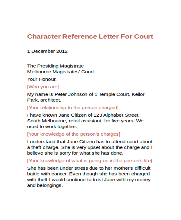 10 Best Personal Character Reference Letter How To