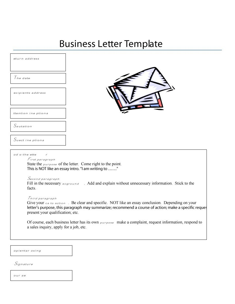 formal business letter format templates