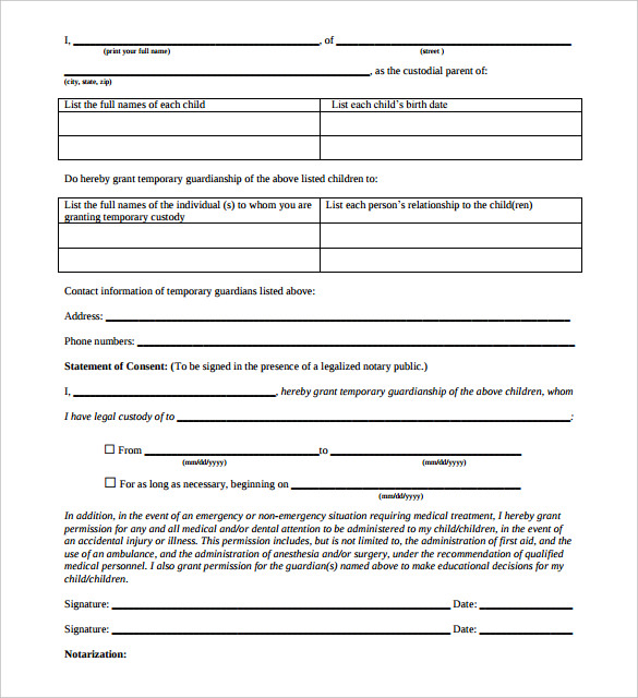 free notarized letter template