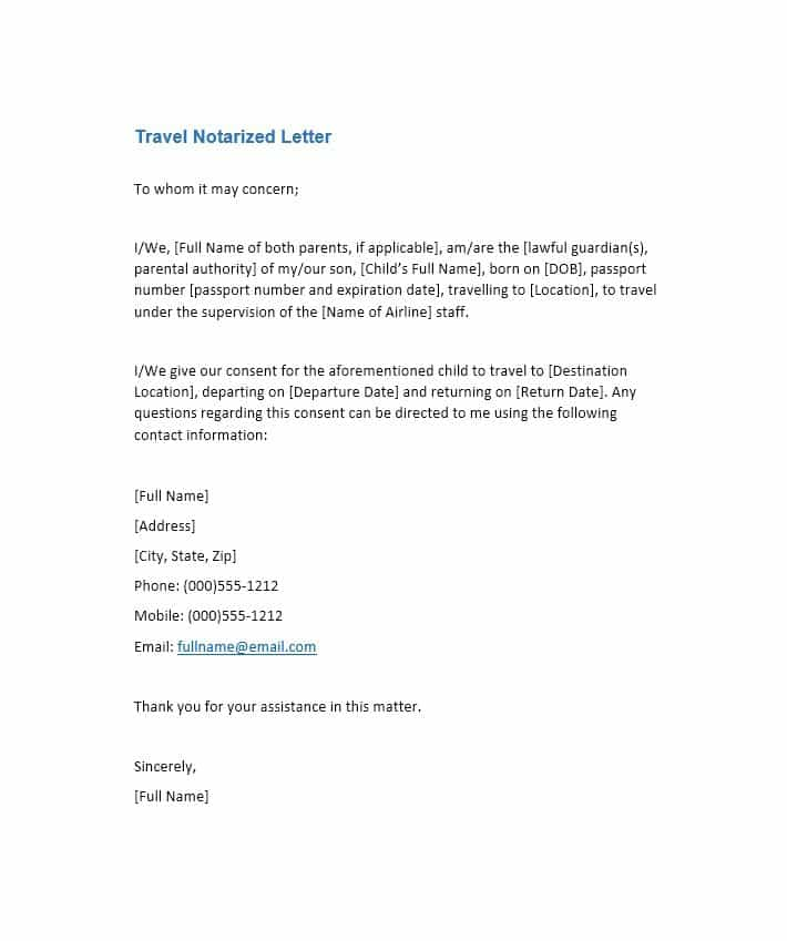 free notarized letter template sample format example template section