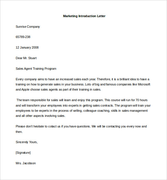 formal business letter introduction introduction email to client template 5 free samples 10413