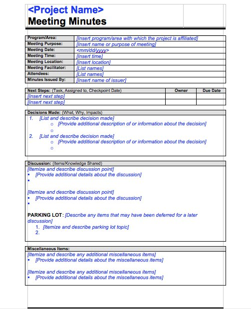 Meeting Minutes Templates - 12+ Free Word Excel Samples ...